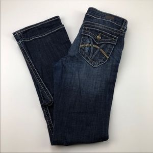 KUT Natalie High Rise Bootcut Dark Wash 4 EUC